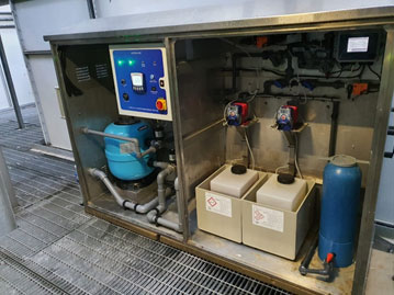 New upgraded dosing equipment, supplied with full O&M manual and on-site training which is supplied free of charge as part of our commitment to providing a quality service.